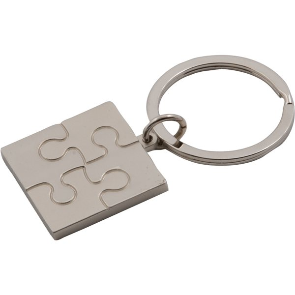 Promotional Puzzle Metal Key Tag