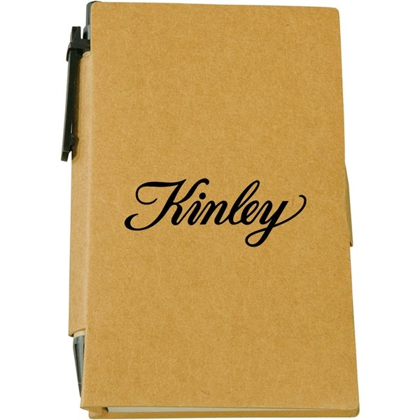Promotional Recycled Sticky Note Book With Pen
