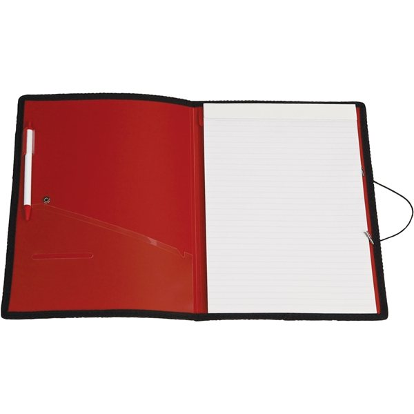 Promotional Letter Size Portfolio With Closure Strap And Pen