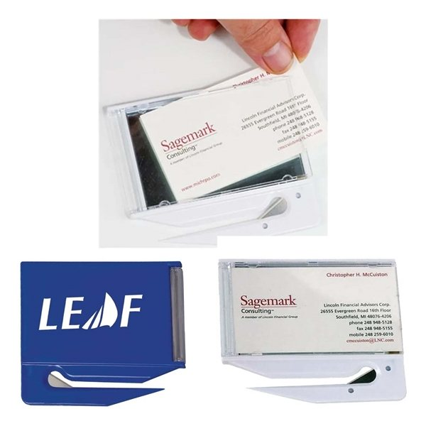 Promotional Business Card Letter Opener With Mirror