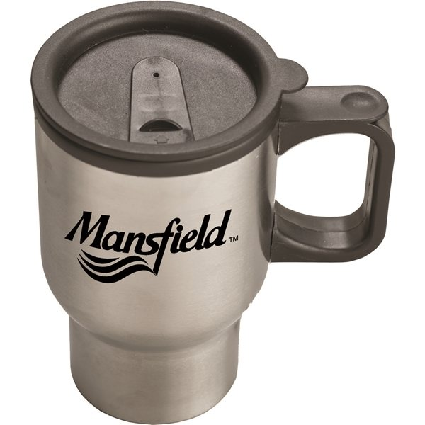 Promotional (16 Oz.) Stainless Steel Sculptured Travel Mug