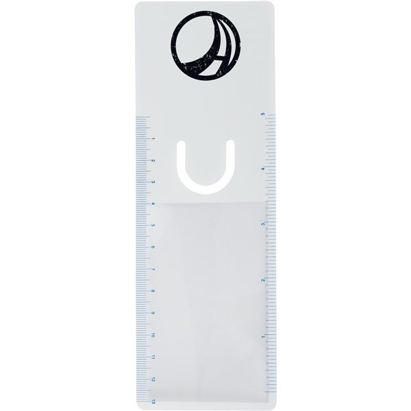 Promotional Bookmarker Magnifier With Clip And Ruler