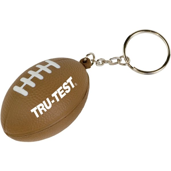 Promotional Mini Football Stress Reliever Key Tag
