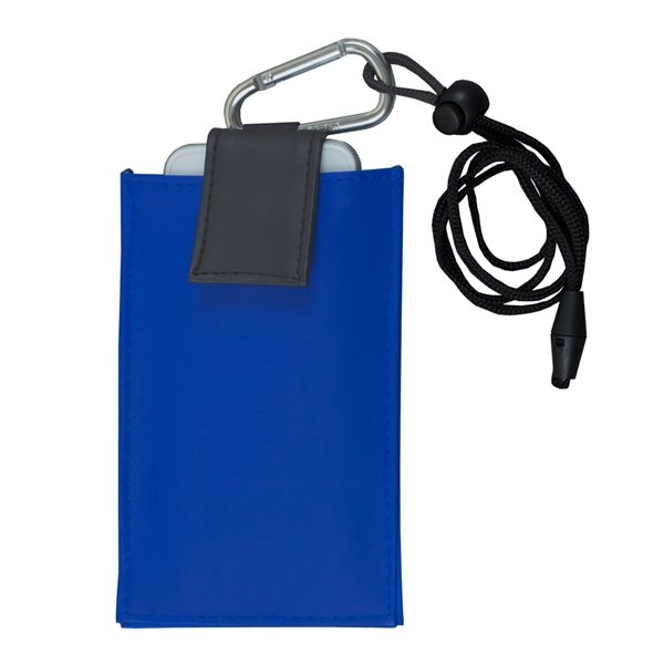 Cell Phone Amp Id Holder Wallet With Carabiner And Breakaway