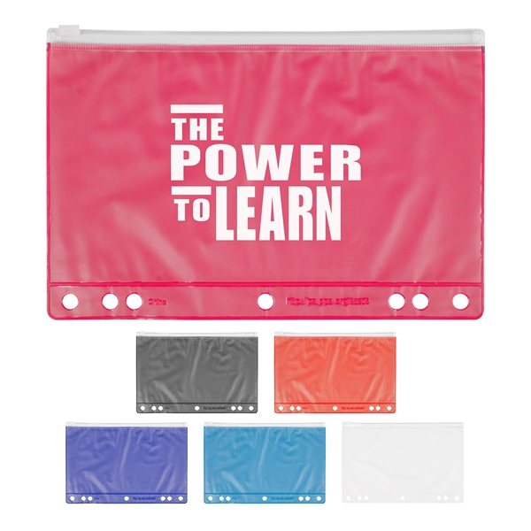 Promotional Slide Lock School Pencil Pouch