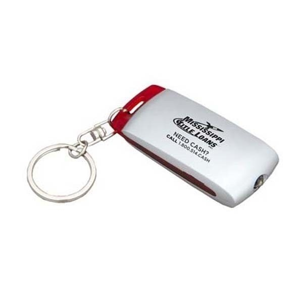 Promotional Key Ring with LED Light