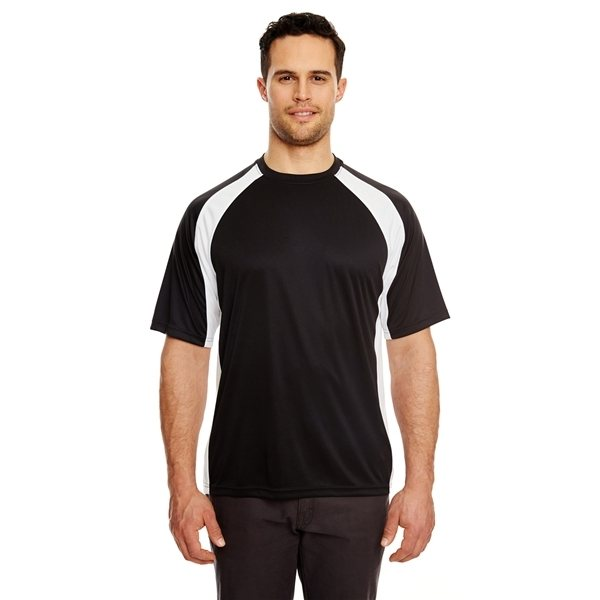 Promotional UltraClub(R) Cool Dry Sport Two - Tone Performance Interlock T - Shirt