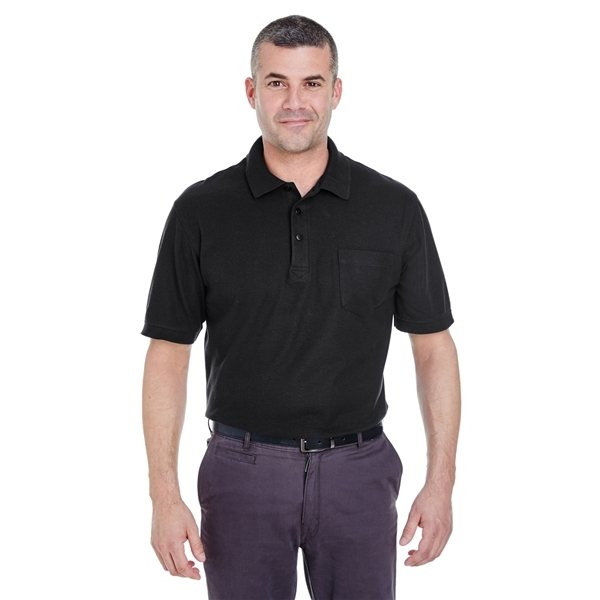 Promotional UltraClub(R) Whisper Piqu Polo with Pocket