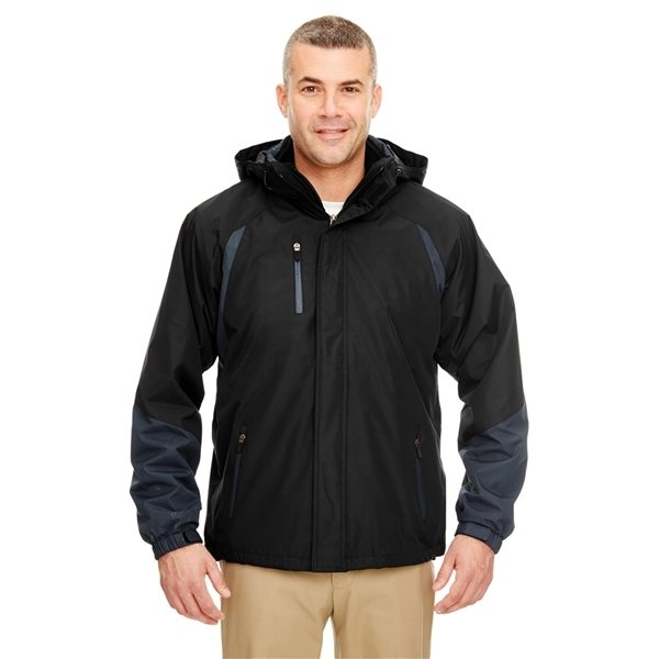 Promotional UltraClub(R) Colorblock 3- in -1 Systems Hooded Jacket