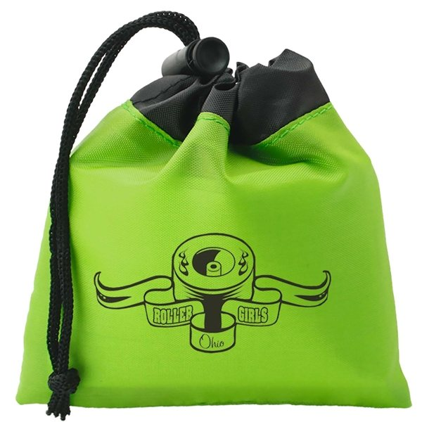 Promotional Bright Two Tone Cinch Tote