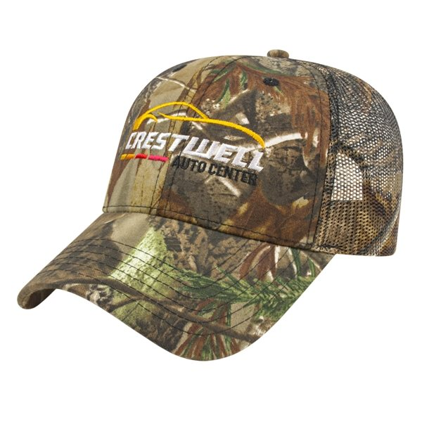 Promotional All Over Camo With Mesh Back Cap Structured
