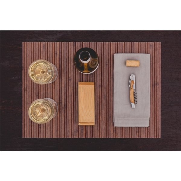 Promotional The Elan - Bamboo Stainless Steel Waiter - Style Corkscrew