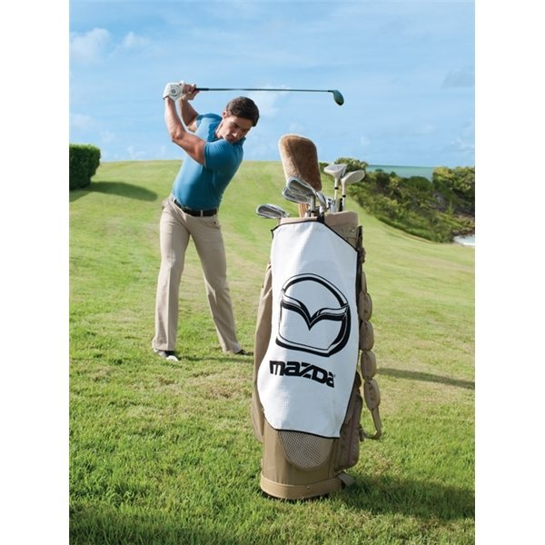 Promotional White Links Golf Towel