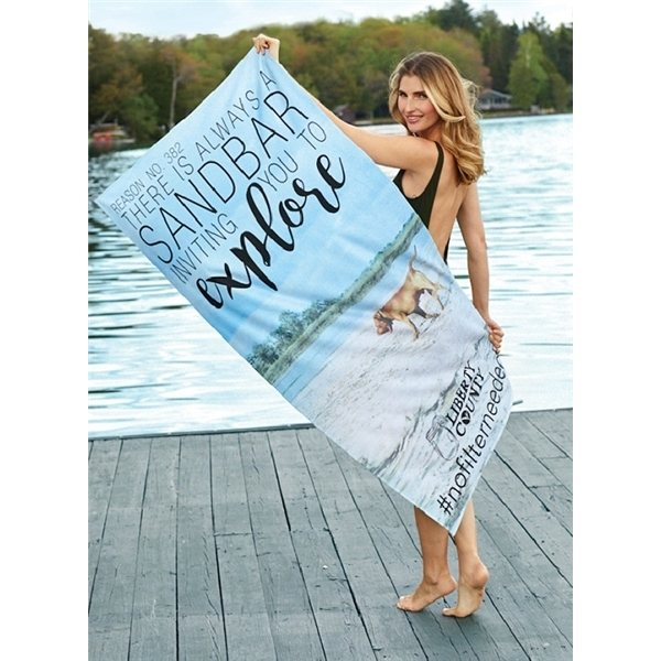 Promotional ColorFusion 35 x 60 Beach Towel (13 lbs./ doz.)