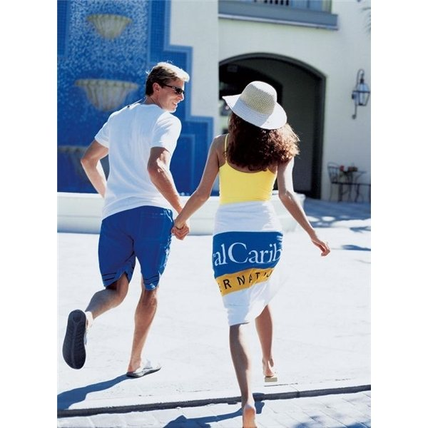 Promotional Basic Weight White Beach Towel