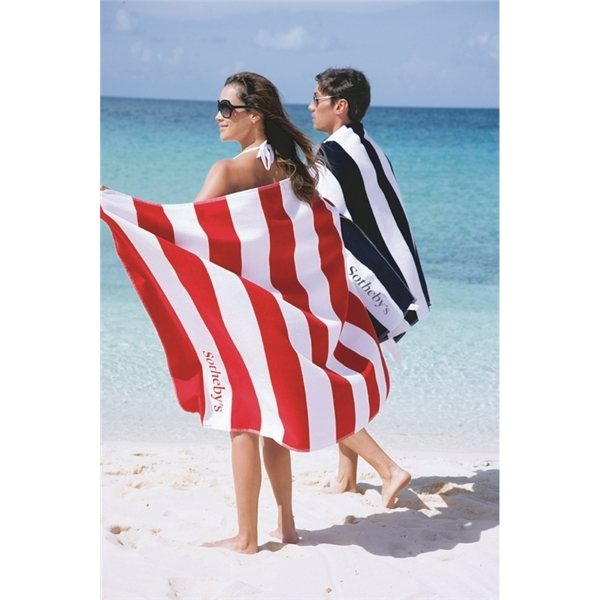 Promotional Horizontal Cabana Stripe Beach Towel