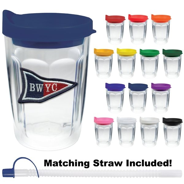 Promotional 14 oz Thermal Travel Tumbler Embroidered Emblem - Plastic