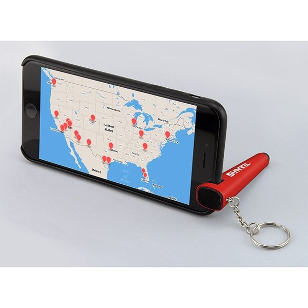 Promotional Mobile Phone Stand Keychain