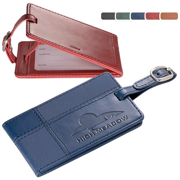 Promotional Tuscany(TM) Duo - Textured Luggage Tag