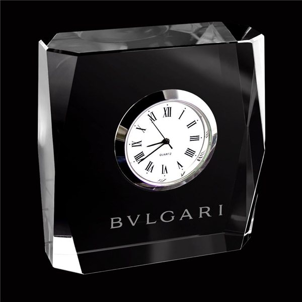 Promotional Mini Designer Crystal Square Clock