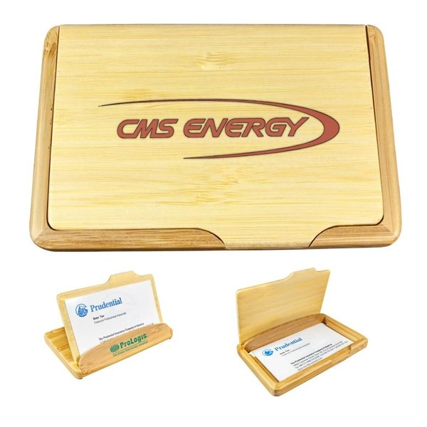 Promotional 2- Way Bamboo Name Card Holder