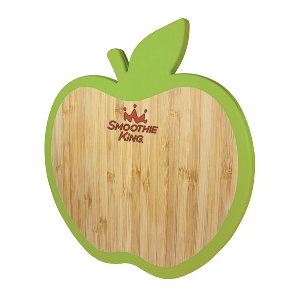 Promotional Apple Bamboo Trivet W / Silicone Edge