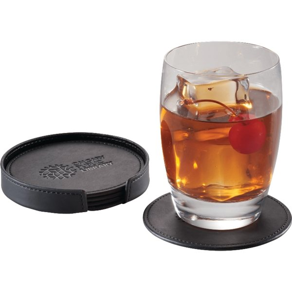 Promotional Pedova(TM) Italian UltraHyde Coaster Set