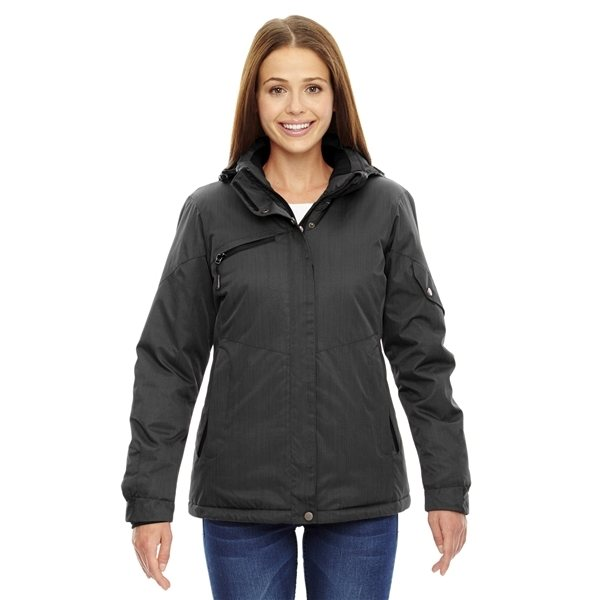 Promotional North End Ladies Rivet Textured Twill Insulated Jacket