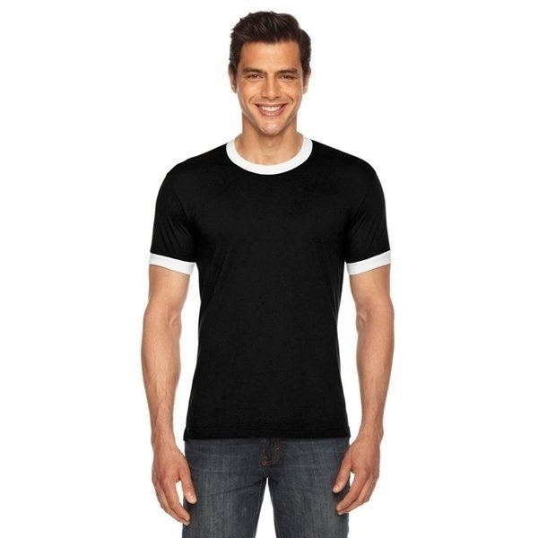Promotional American Apparel Unisex Poly - Cotton Short - Sleeve Ringer T - Shirt
