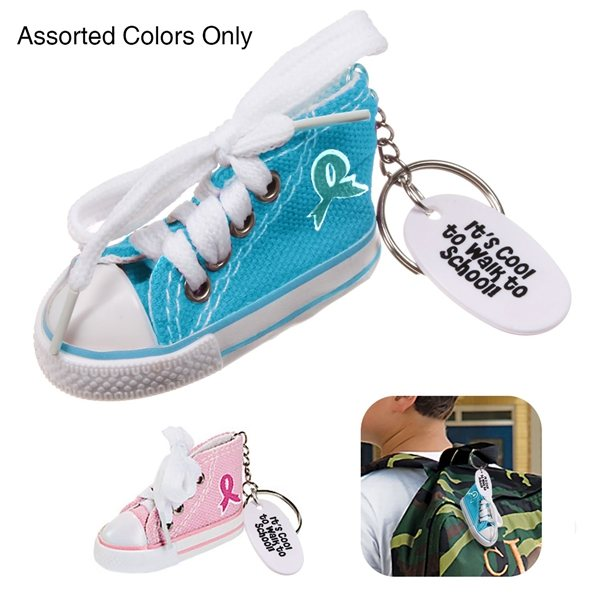 Promotional Ribbon Hip Top Sneaker Keychain