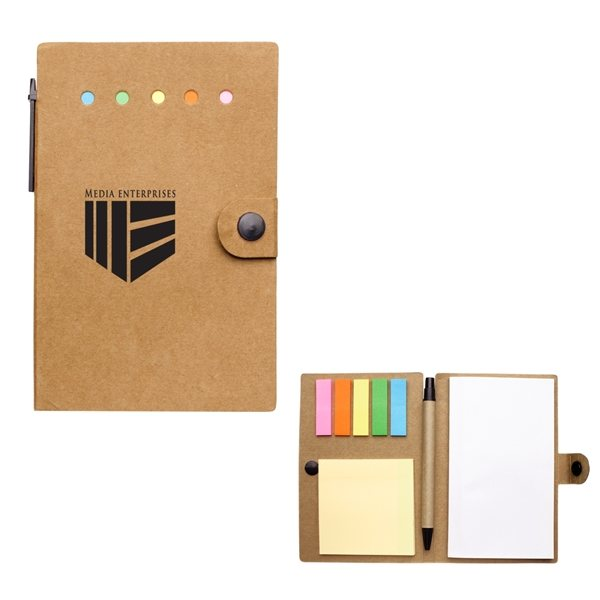 Promotional Small Snap Notebook With Desk Essentials