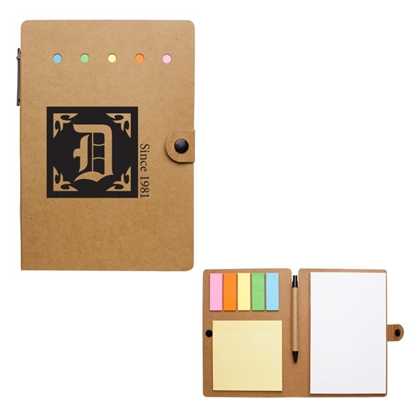 Promotional Large Snap Notebook With Desk Essentials