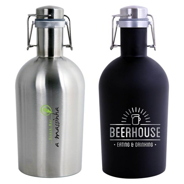 Promotional 64 oz. 18/8 Stainless Steel Beer Growler