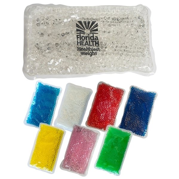 Promotional Gel Beads Hot / Cold Pack Rectangle