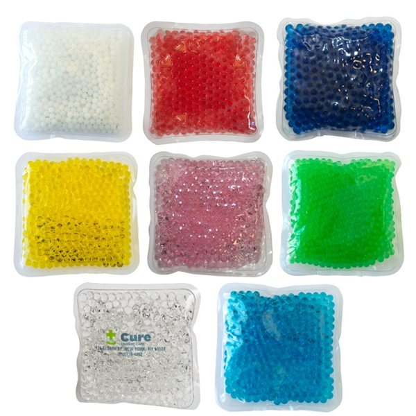 Promotional Gel Beads Hot / Cold Pack Square