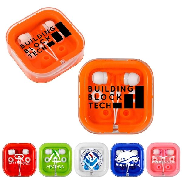 Promotional Ear Buds with Interchangeable Covers - Colors