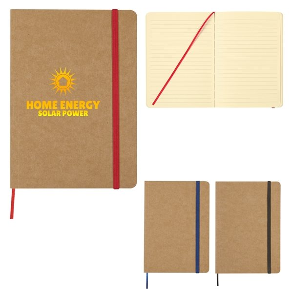 Promotional 5 X 7 Eco - Inspired Strap Notebook