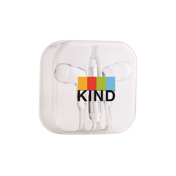 Promotional Phthalates Free Stereo Earphone with Microphone