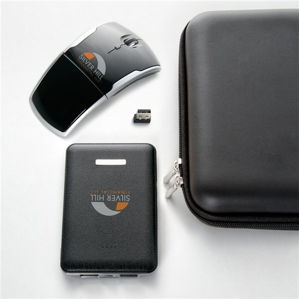 Promotional Power bank and wireless mouse gift set