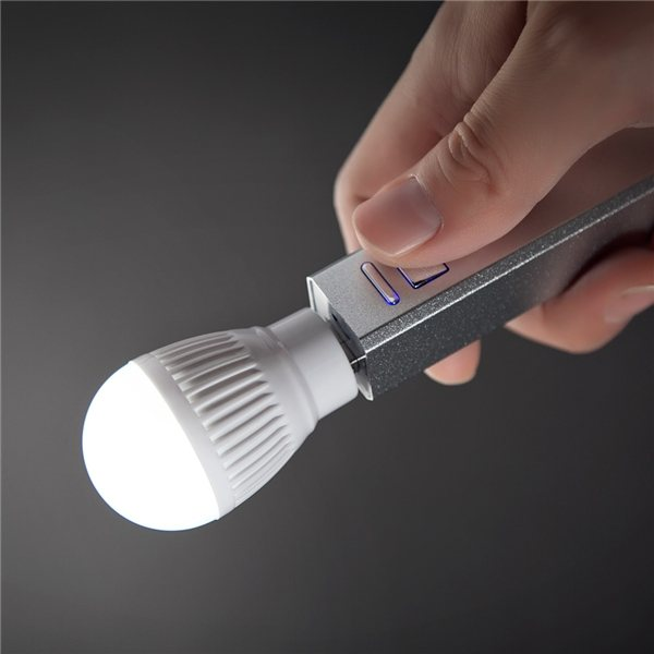Promotional Wall charger and light bulb gift set