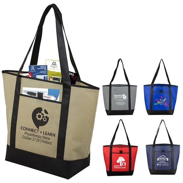 Promotional The City Life Beach, Corporate and Travel Boat Tote Bag