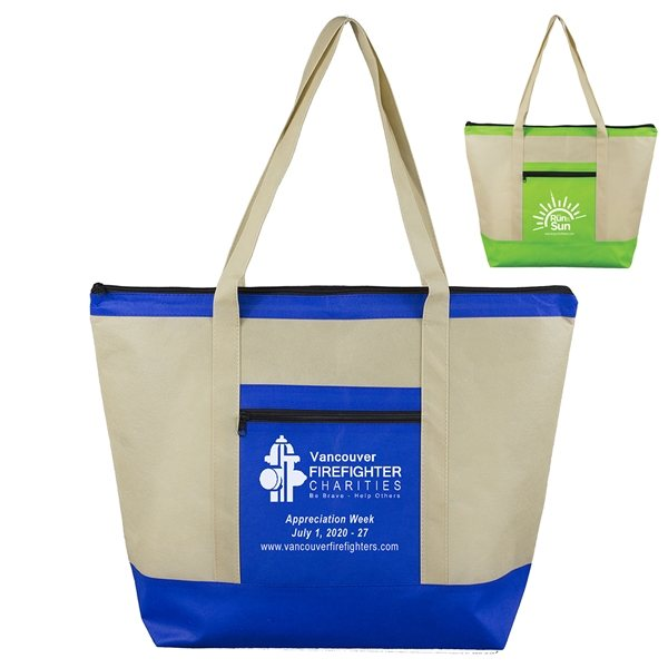 Promotional Country Aire Oversized Beach and Travel Zippered Tote Bag