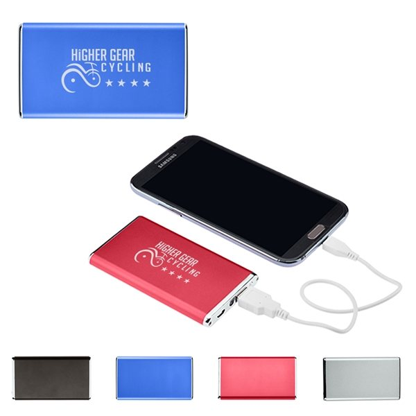 Promotional Ultra - Slim Power Bank Charger - UL Certified