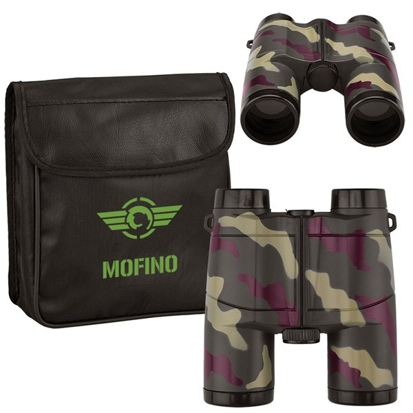 Promotional Camo Binoculars with PVC Case