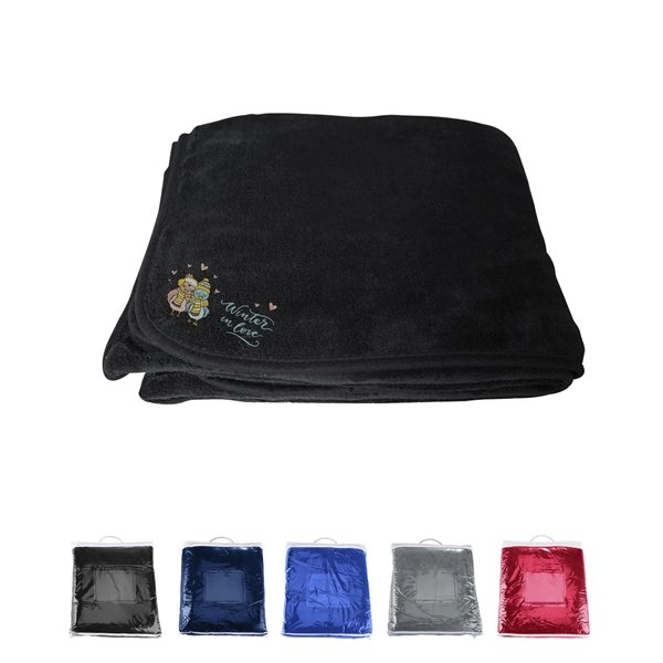 Promotional Chenille Micro Plush Fleece Blanket