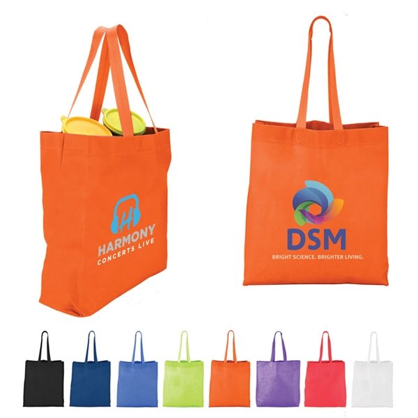 Promotional Heat Sealed Nonwoven Value Tote with Gusset