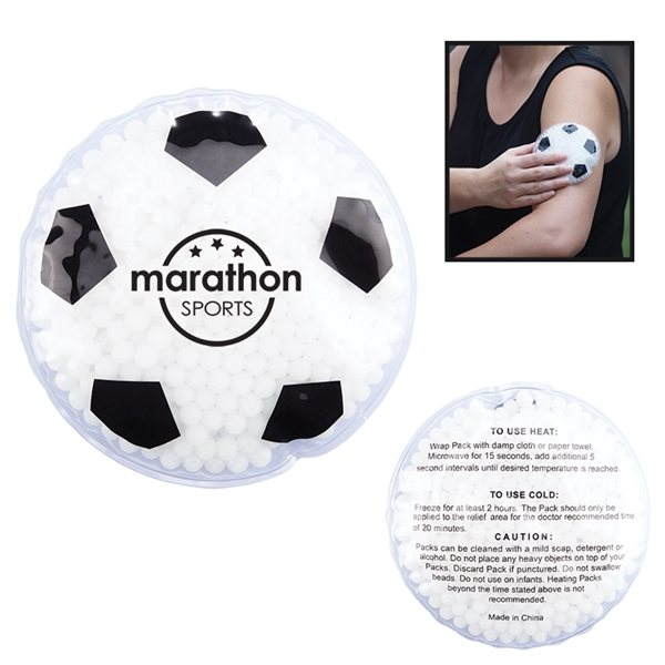 Promotional Soccer Hot / Cold Gel Pack