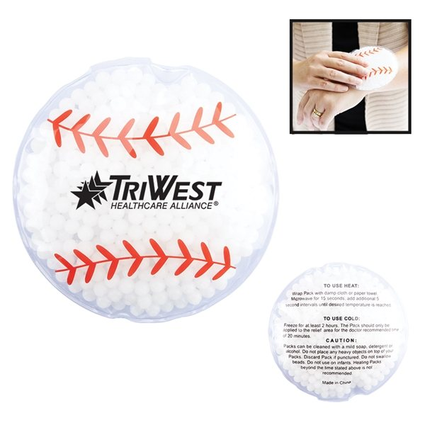 Promotional Baseball Hot / Cold Gel Pack