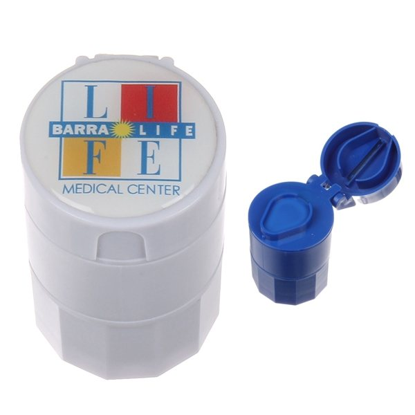 Promotional Full Color 4- in -1 Pill Box