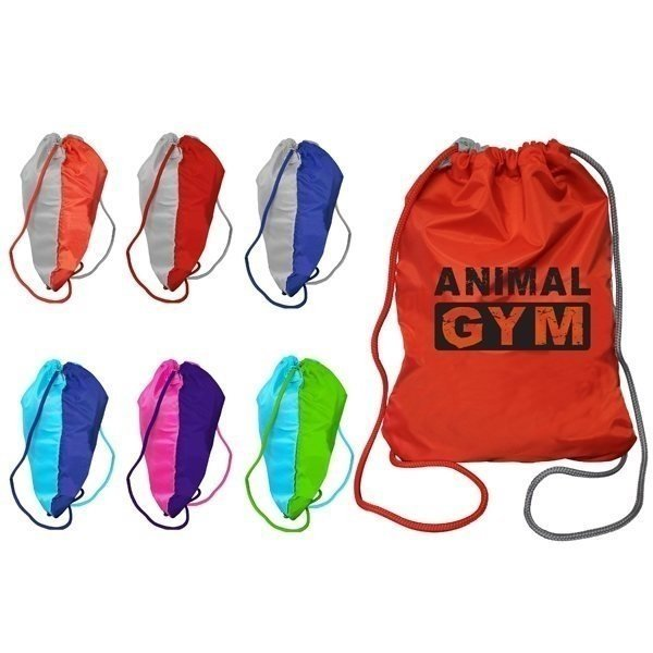 Promotional Two Tone Drawstring Backpack